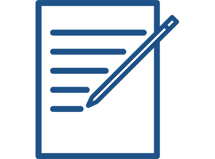 icon of pencil and paper